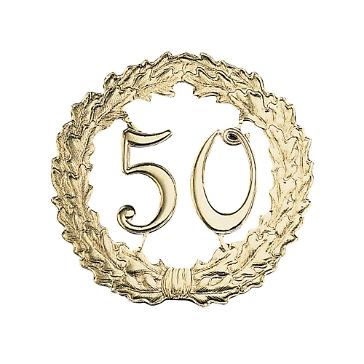 Jubiläumskranz 50, gold