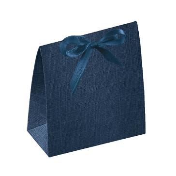 Gastgeschenk Tüte, dunkelblau, 7 x 3,5 x 8 cm, Faltschachtel für Gastgeschenke