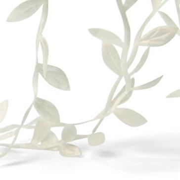 Satinband Blätterranke, creme