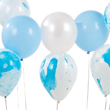 Ballons Watercolour Mix, blau