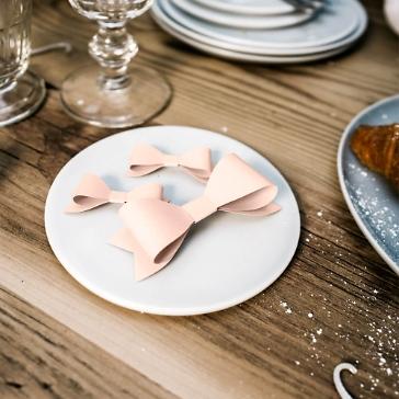 Papierdeko Schleife, rosa, 6 St.