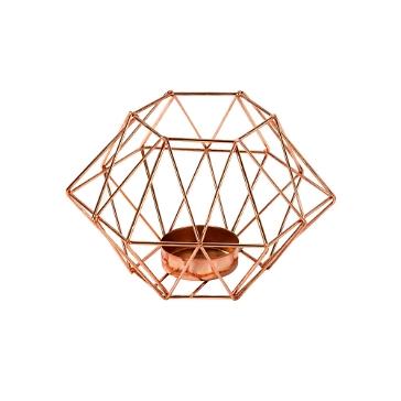 Kerzenhalter Geometric Design, kupfer
