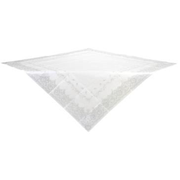 Papier Tischdecke Ornamente, weiss, silber
