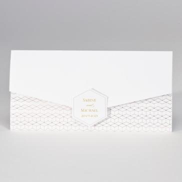 Einladungskarte Hochzeit, geometrisches Design