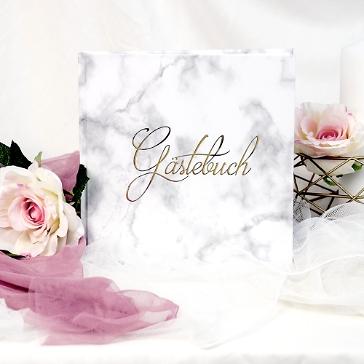Gästebuch Gold Modern