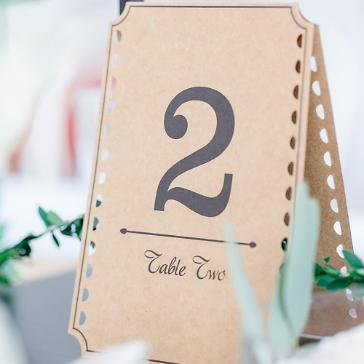 Tischnummern Rustique, 1-12, zum Aufstellen, Vintage