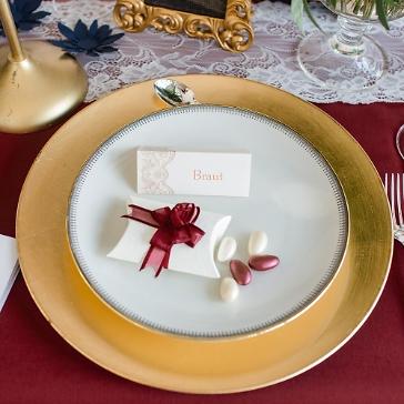 Gastgeschenk Hochzeit Naxos, elfenbein-bordeaux