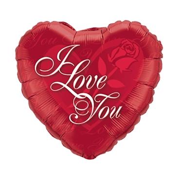 "Folienballon ""I Love you"", rot"
