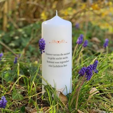 Kerze der Hoffnung Immer wenn du denkst