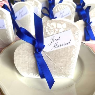 Gastgeschenk Hochzeit Hestia blau