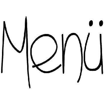 """Stempel """"Menue"""" Hochzeit"""