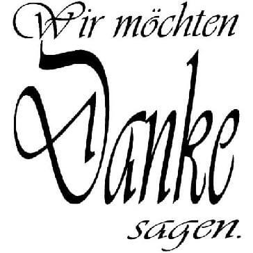 "Stempel Danke Vivaldi - Hochwertiger Stempel mit ""Danke"" Schriftzug"
