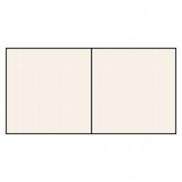 25 Karten quadratisch, elfenbein metallic