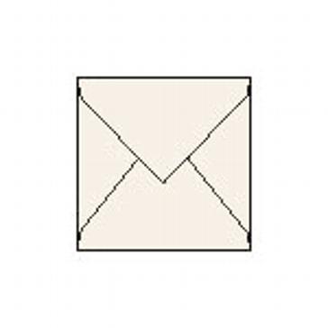 25 Kuverts quadratisch, elfenbein metallic