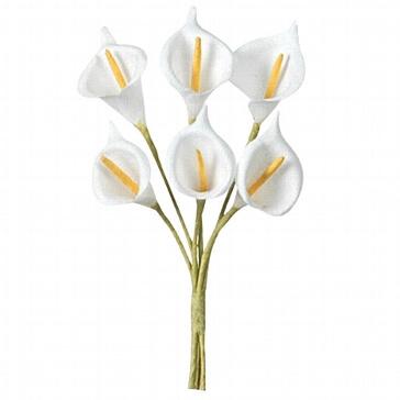 Dekosträußchen Calla in Weiß für die Hochzeit