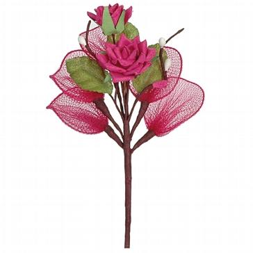"""Dekosträußchen """"Rose"""" in Fuchsia für die Hochzeit"""
