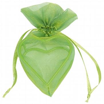 GeschenksächckenHerz in Grün für Gastgeschenke