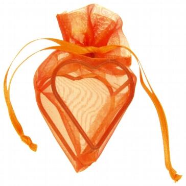 GeschenksächckenHerz in Orange für Gastgeschenke