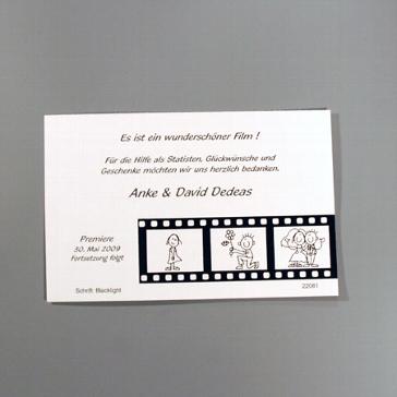 "Danksagungskarte ""Alina"""