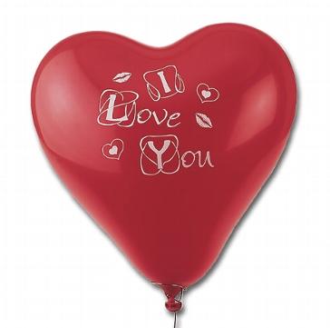 """Herzluftballons """"I love you"""" für die Heirat"""