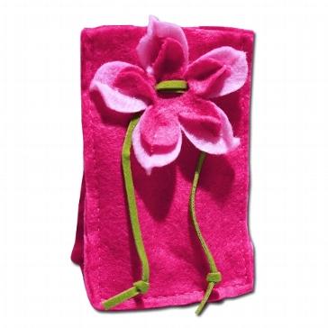 Mandelsäckchen Filz, pink