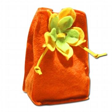 Mandelsäckchen Filz, orange