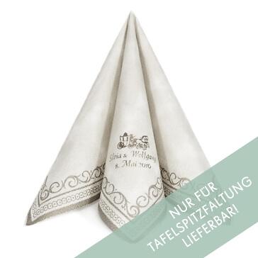 Serviette Adagio zur Hochzeit in Silber