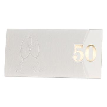 Einladungskarte zur Goldenen Hochzeit Dora Jubiläum 50 Jahre