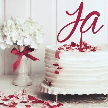 Cake Topper Ja in Pink
