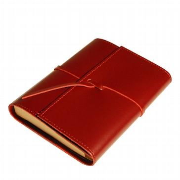 "Adressbuch ""Romano"" rot mit Ledereinband"