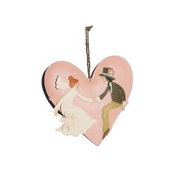 Anhängerbox in Herzform für Geschenke zur Hochzeit