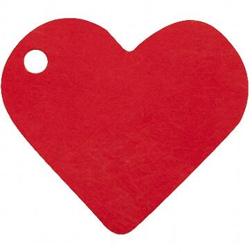 Anhänger Herz in Rot für das Gastgeschenk