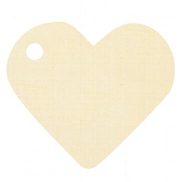 Hochzeitsdeko Anhänger Herz in Vanille