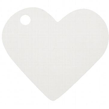 Anhänger Herz Weiß für Geschenke