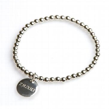 Armband mit Wunschgravur Echt-Silber in 17 cm