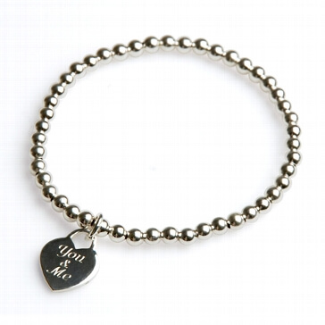 Armband You & me silber 18 cm
