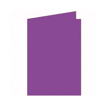 """Doppelkarten B6 """"Silky"""" von Artoz in Purpur"""