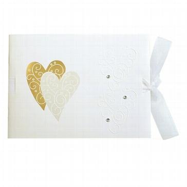 """Fotoalbum """"Golden Heart"""" mini zur Hochzeit"""