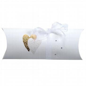Geschenkschachtel Golden Heart für das Hochzeitsgeschenk