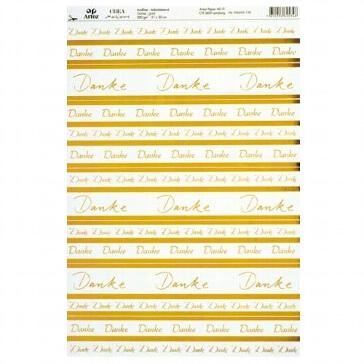 Artoz Kraetivpapier Danke A4 selbstklebend, gold