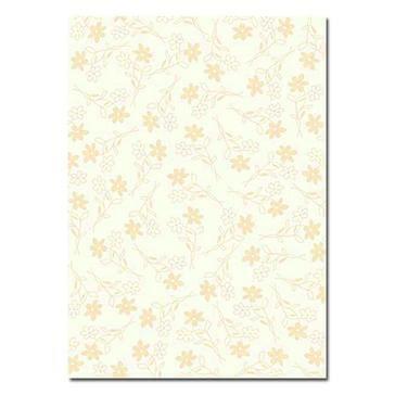 "Artoz Designpapier A4 ""Blumen gold"""