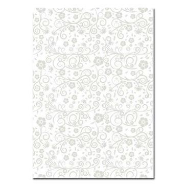 Artoz Designpapier A4 Floral in Silber