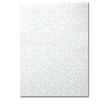 Bastelpapier mit geprägten Ornamenten