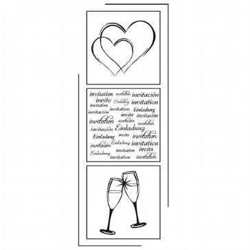 """Artzo Stempel """"Einladung Hochzeit """" für die Hochzeitskarten"""