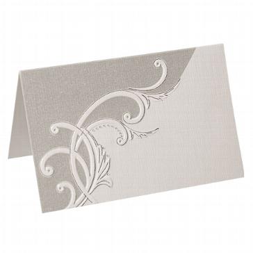 """Artoz Tischkarten """"Weiß-Silber"""""""