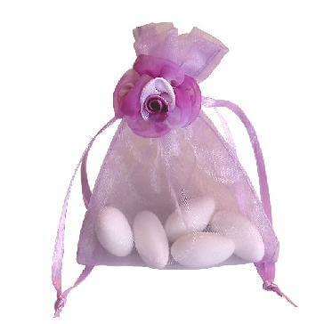 Gastgeschenk Hochzeit Athene flieder - lilafarbenes Gastgeschenksäckchen