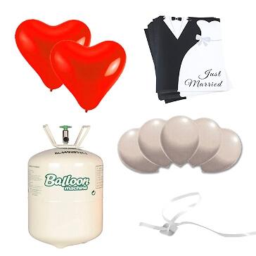 Ballonstart-Set Brautpaar - Deluxe