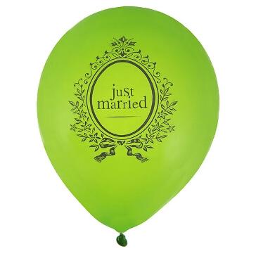 """Ballons """"Just Married"""", grün, 8 St. - grüne Hochzeitsballons"""