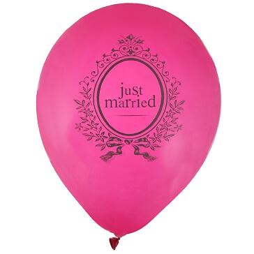 """Ballons """"Just Married"""", pink, 8 St. - hübsche Hochzeitsballons"""