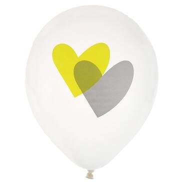 Ballons Love Love, grün, 8 St. - grüne Ballons zur Hochzeit